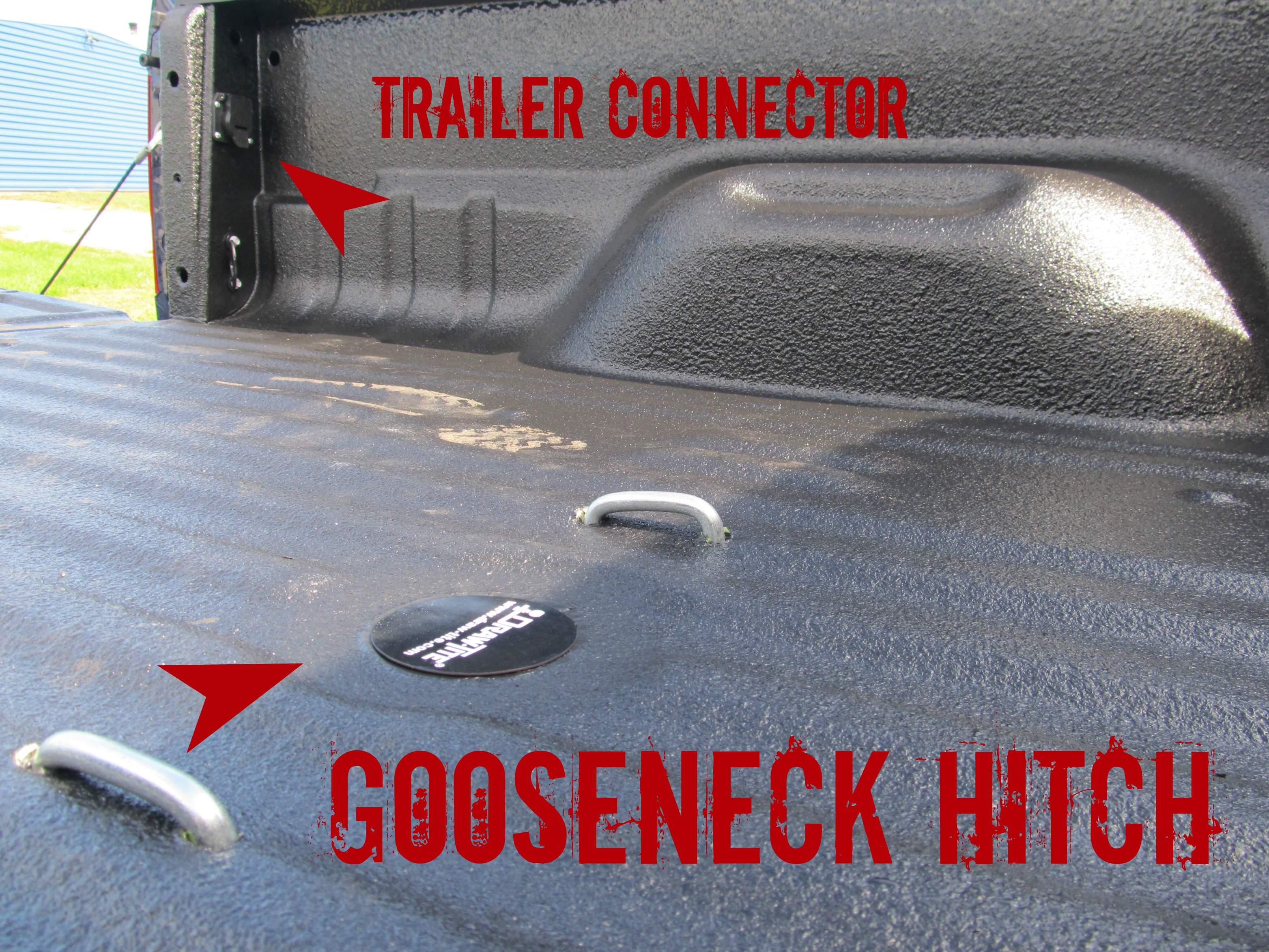 new ford f350 with gooseneck hitch install with rhino