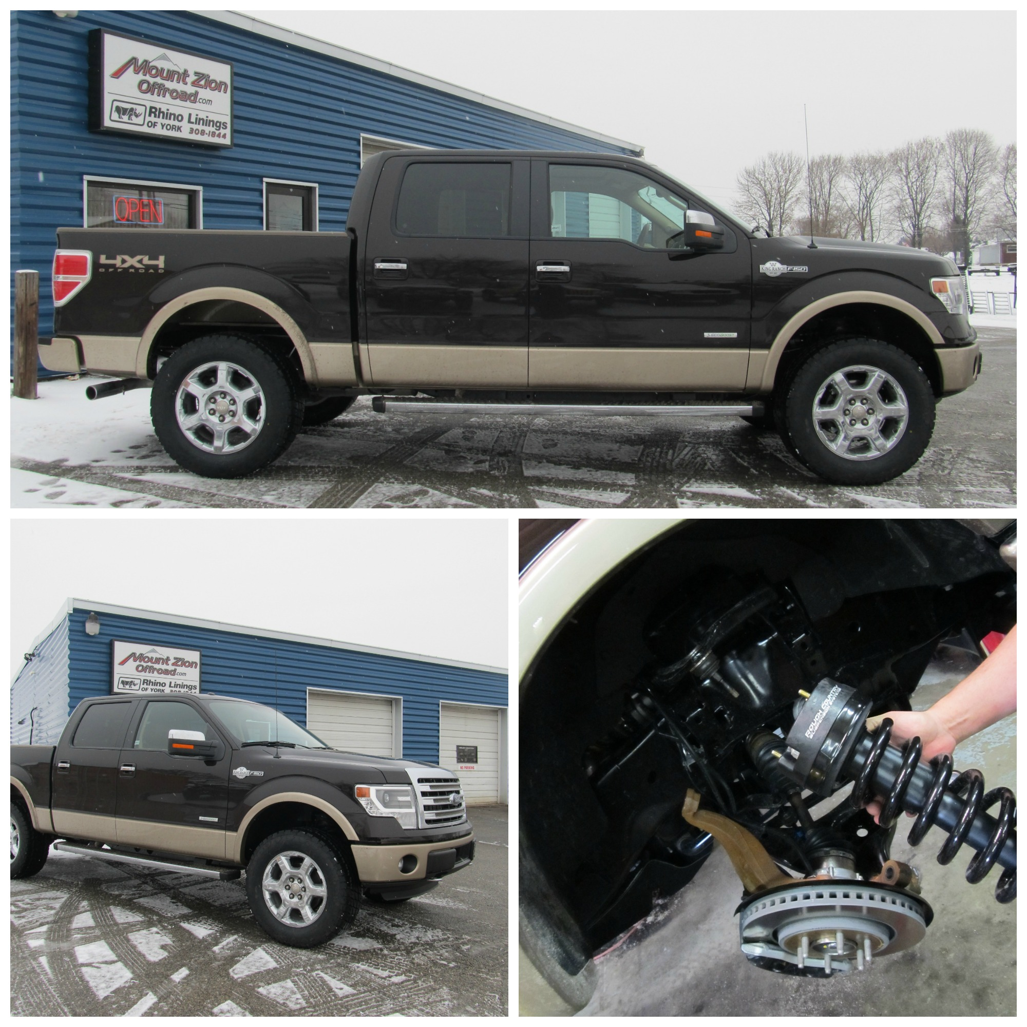 Leveling Kit For Ford F150: Ford F150 King Ranch Gets A Lift, Tires & Rhino Lining